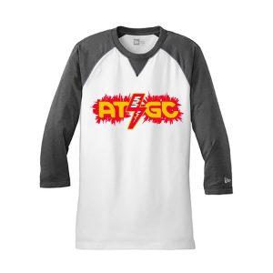 Men's Chemistry Dark White/Gray 3/4 Sleeve Science T-Shirt