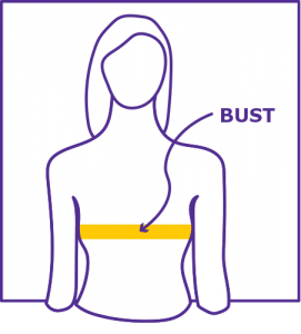 Bust Measuring Diagram