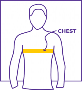 Chest Measuring Diagram