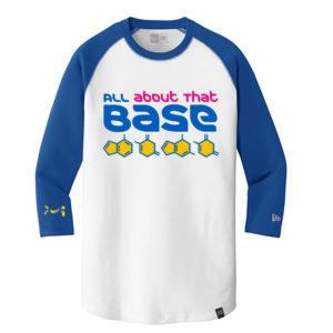 Men's Chemistry White Blue Long 3/4 Sleeve Science T-Shirt