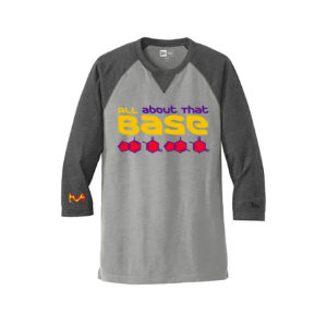 Men's Chemistry Light-Dark Gray 3/4 Long Sleeve Science T-Shirt