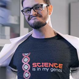 Science Is In My Genes Tee