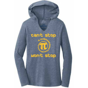 Women's Mathematics Gray Long Sleeve Science Hoodie