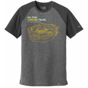 Men's Biology Labware Gray Long Sleeve Science T-Shirt