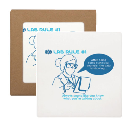 Science Labware Square Stone Coaster with Cork Backing