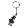 DNA Science Biology Silver Pewter Keychain