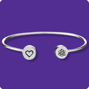 I love Science Cuff Stainless Steel Research Chemistry Biology