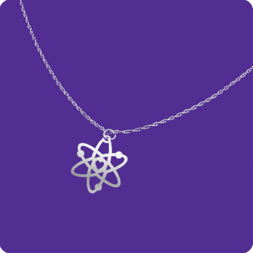 Atom Necklace Stainless Steel Science Research Chemistry