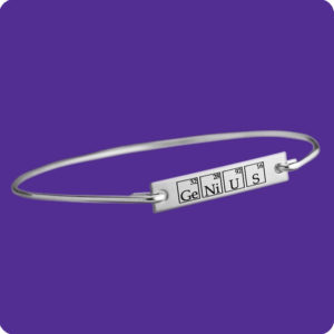Genius Bangle Stainless Steel Science Research Biology