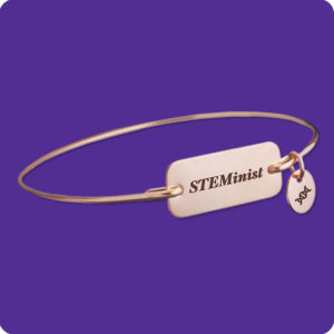 STEMinist Bracelet Stainless Steel Science Research Biology