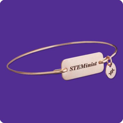 STEMinist Bracelet Stainless Steel Science Research Biology