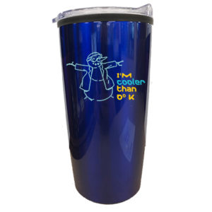 Stainless steel dark blue 20 oz. double wall tumbler