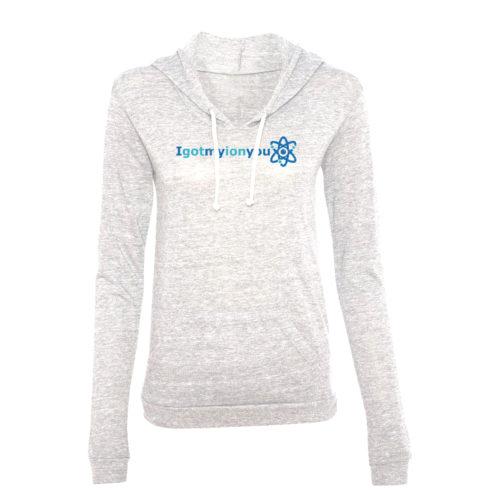 Women's Biology/Labware Gray Long Sleeve Science Hoodie