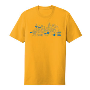 Men's Yellow Short Sleeve Research T-Shirt