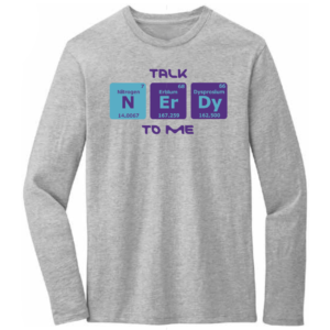 Men's Chemistry Gray Long Sleeve Science T-Shirt
