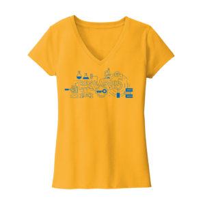 Women's Yellow Short Sleeve Research T-Shirt