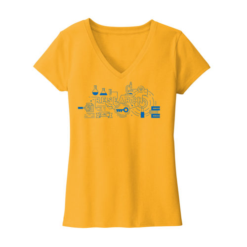 Women's Yellow Short Sleeve Research T-Shirt