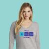 Women's Chemistry Gray Long Sleeve Science T-Shirt