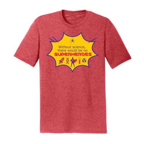 Men's Red Short Sleeve Science T-Shirt