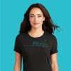 Women's Biology Labware Black Long Sleeve Science T-Shirt