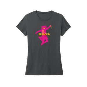 Women's Navy Short Sleeve Science T-Shirt