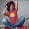 Women's Red Short Sleeve Science T-Shirt