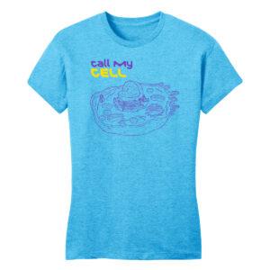 Women's Biology Labware Blue Long Sleeve Science T-Shirt
