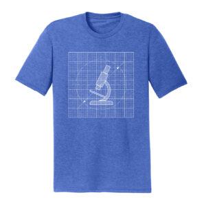 Men's Biology Labware Blue Long Sleeve Science T-Shirt