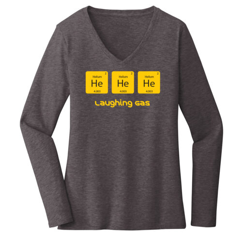 Women's Chemistry Gray Long Sleeve Science T-Shirt