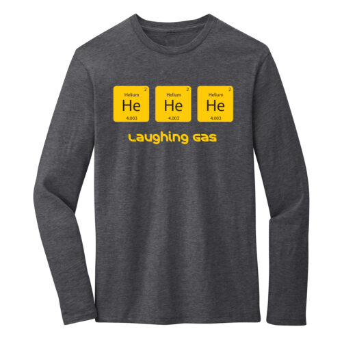 Men's Chemistry Gray Long Sleeve Science T-Shirt
