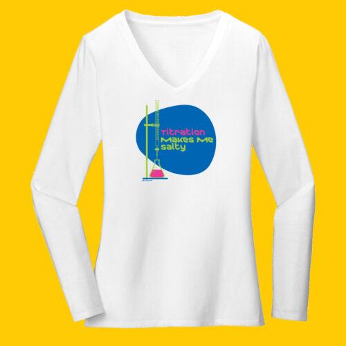 Women's Chemistry White Long Sleeve Science T-Shirt