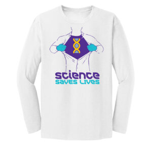 Men's Science Saves Lifes Long Sleeve Tshirt