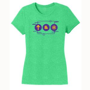 Women's Chemistry Green Short Sleeve Science T-Shirt