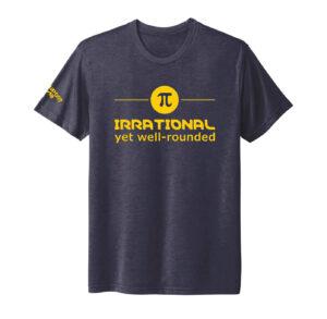 Unisex Mathematics Navy Short Sleeve Tshirt