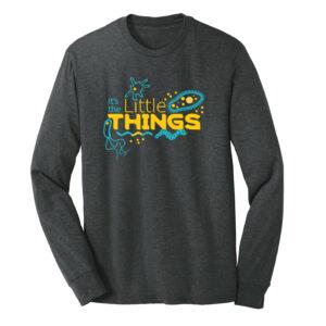 Men's Biology Labware Black Long Sleeve Science T-Shirt